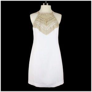 Lilly Pulitzer Resort White Pearl Shift Dress sz 6